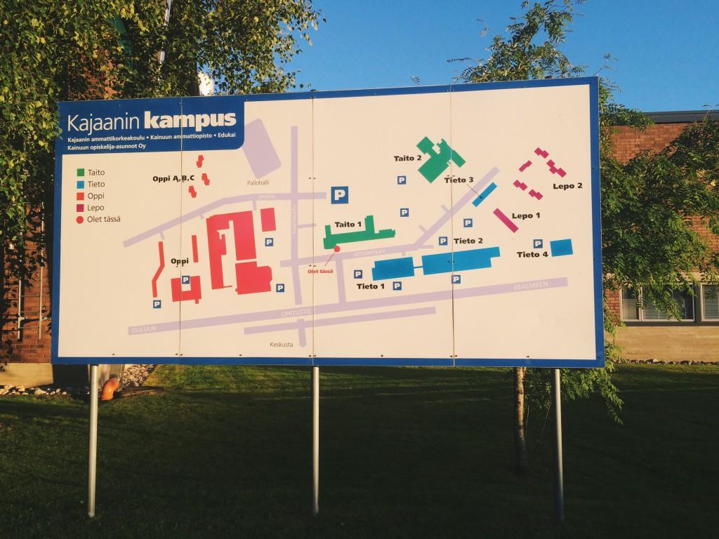 Карта университета Каяани