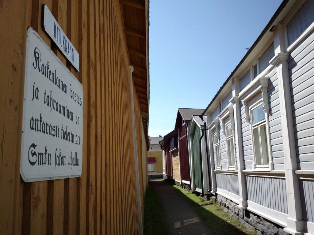 Улица Kitukränn - самая узкая в Финляндии