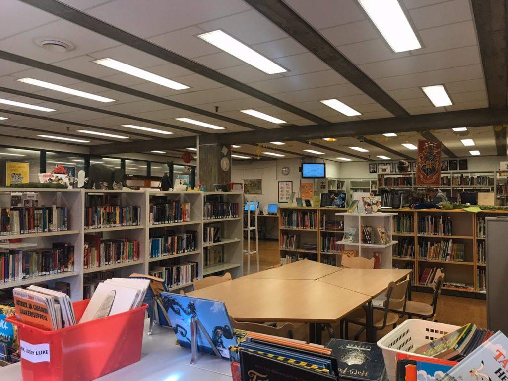 Школьная библиотека в Хельсинки